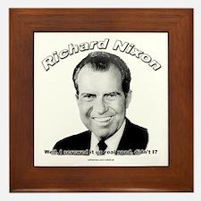 Richard Nixon 03 Framed Tile