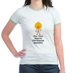 Fibromyalgia Awareness Chick Jr. Ringer T-Shirt