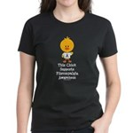 Fibromyalgia Awareness Chick Women's Dark T-Shirt