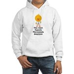 Fibromyalgia Awareness Chick Hooded Sweatshirt