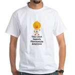 Fibromyalgia Awareness Chick White T-Shirt