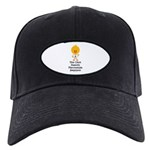 Fibromyalgia Awareness Chick Black Cap