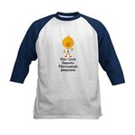 Fibromyalgia Awareness Chick Kids Baseball Jersey