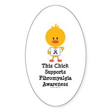 Fibromyalgia Awareness Chick Decal