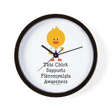 Fibromyalgia Awareness Chick Wall Clock