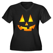 Jacko Face Women's Plus Size V-Neck Dark T-Shirt