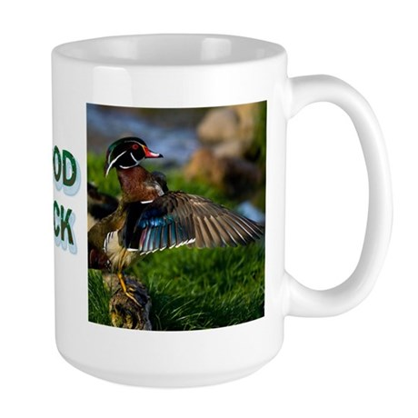 Wood Duck Wing Large Mug