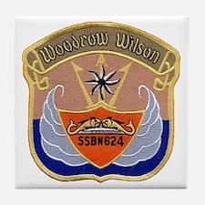 USS WOODROW WILSON Tile Coaster