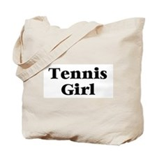 Tennis Girl Tote Bag