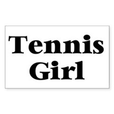 Tennis Girl Rectangle Bumper Stickers