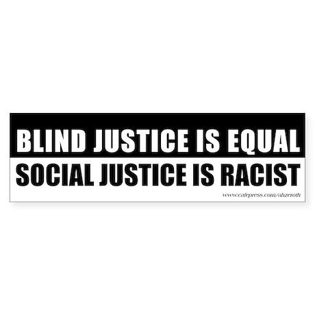 Blind vs Social Justice, Sticker (Bumper)