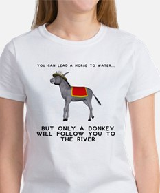 """Only a donkey..."" Women's White T-Shirt"