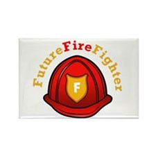 Future Fire Fighter Rectangle Magnet