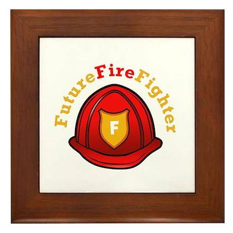 Future Fire Fighter Framed Tile