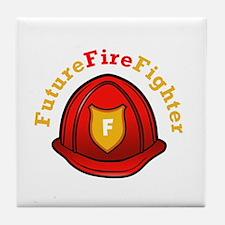 Future Fire Fighter Tile Coaster