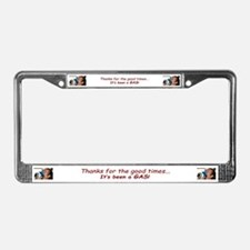 It's Been A Gas License Plate Frame