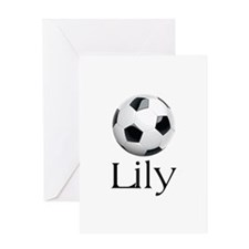 Lily Soccer Greeting Card