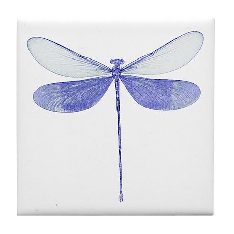 Blue Dragonfly Art Tile