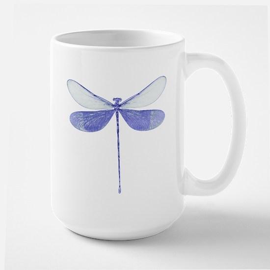 Blue Dragonfly Large Mug