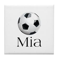 Mia Soccer Tile Coaster
