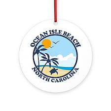 Ocean Isle Beach NC - Beach Design Ornament (Round