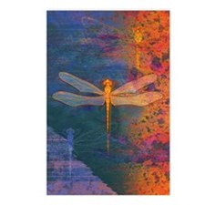 Flaming Dragonfly Postcards (Package of 8)