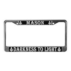 Masons Light License Plate Frame