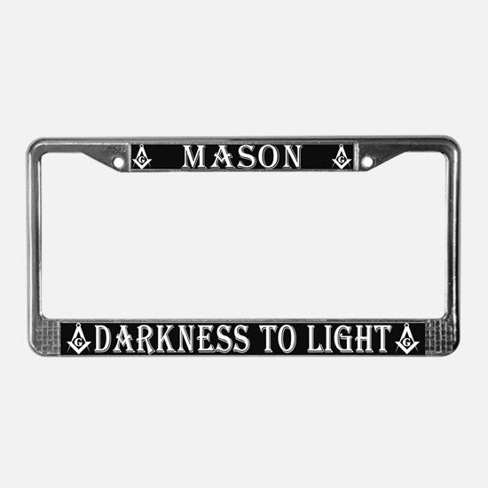 Masons Light License Plate Frame