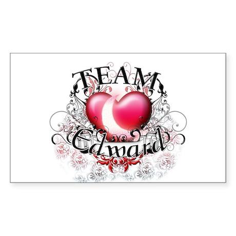 Team Edward Tribal Sticker (Rectangle)
