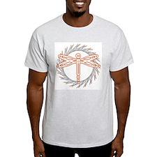 Glowing Dragonfly Ash Grey T-Shirt