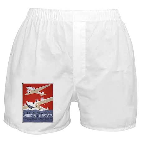 New York City Airports Boxer Shorts