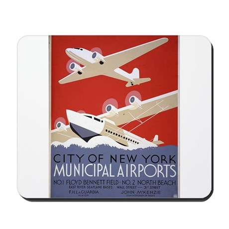 New York City Airports Mousepad