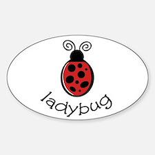 Ladybug Oval Decal