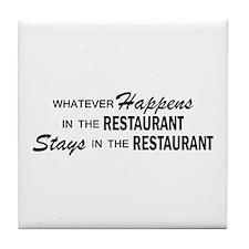 Whatever Happens - Restaurant Tile Coaster