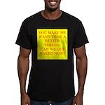 let's get naked Men's Fitted T-Shirt (dark)