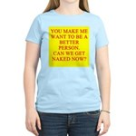 let's get naked Women's Light T-Shirt