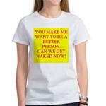 let's get naked Women's T-Shirt