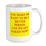 let's get naked Large Mug