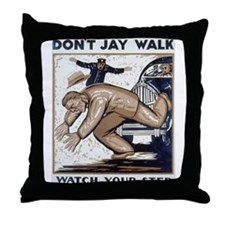 Don't Jay Walk 1937 Throw Pillow