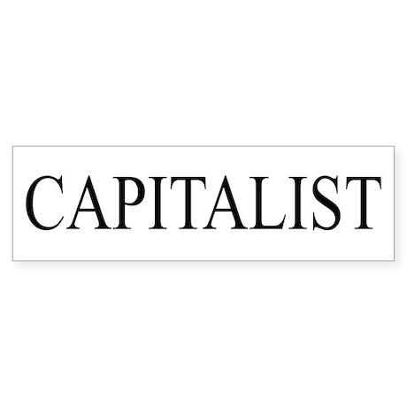 Capitalist Sticker (Bumper)