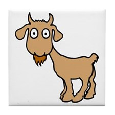 Cute Billy Goat Tile Coaster