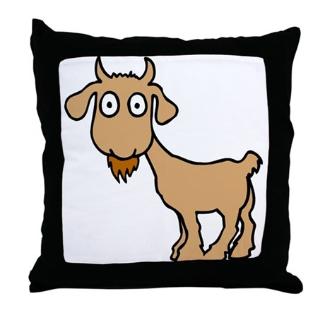 Cute Billy Goat Throw Pillow