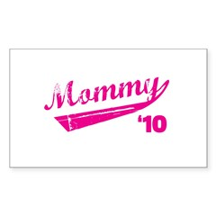 mommy '10 t-shirt Rectangle Decal