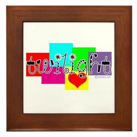 Twilight Colors by Twibaby.com Framed Tile
