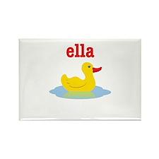 Ella's rubber ducky Rectangle Magnet