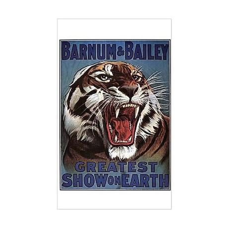 Vintage Circus Tiger Sticker (Rectangle)