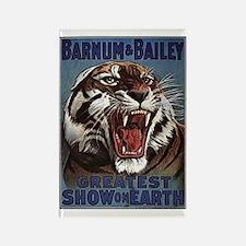 Vintage Circus Tiger Rectangle Magnet