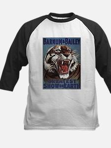 Vintage Circus Tiger Kids Baseball Jersey