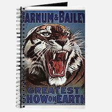 Vintage Circus Tiger Journal