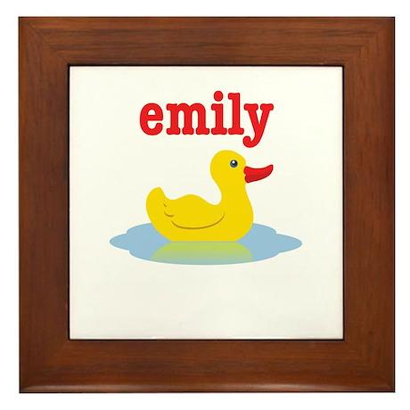 Emily's rubber ducky Framed Tile